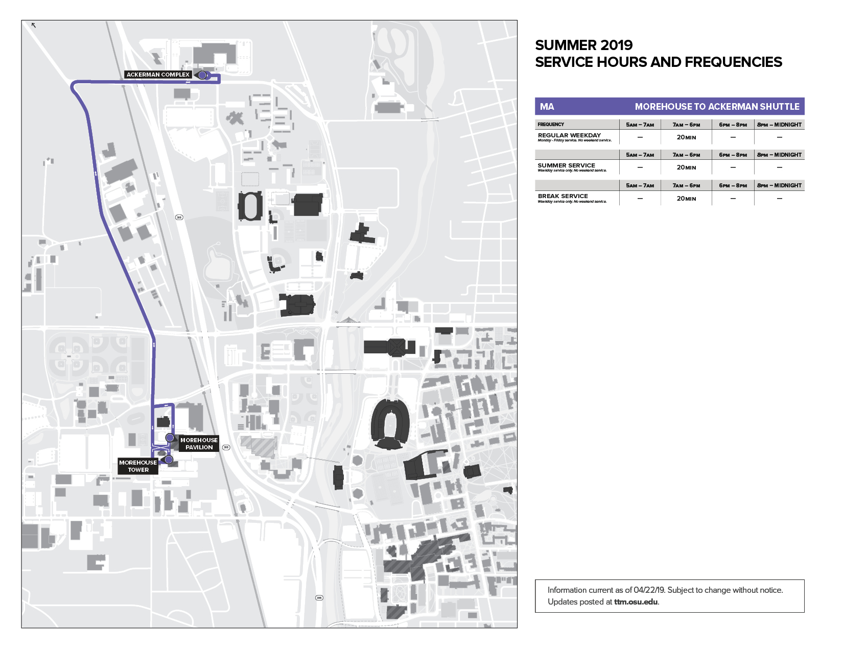 CABS Routes Detoured June 1 for College Road Closure
